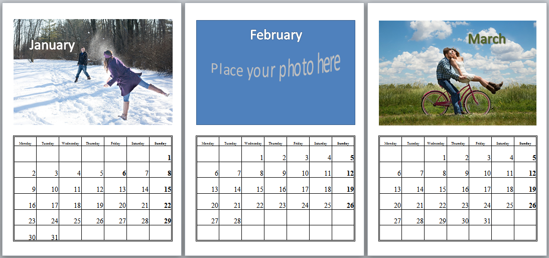 Make a photo calendar diy or ordered my creative presents make a photo calendar template en solutioingenieria Choice Image